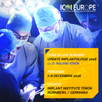 Curs de Implantologie cu Live Surgery 2018